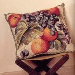"cross-stitch pattern Cushion ""Alfresco Grapes"""