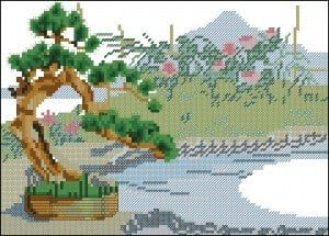 "cross-stitch pattern ""Bonsai"""