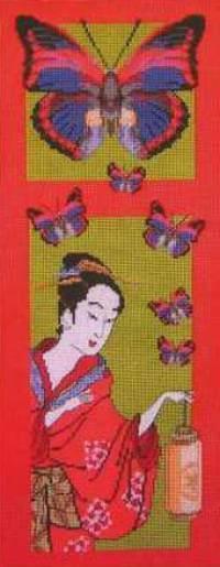 "Free cross-stitch pattern ""Bright Butterflies"""