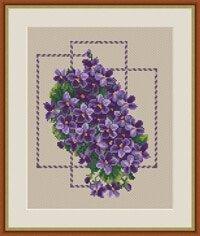 "Free Cross-stitch pattern ""Retro"""