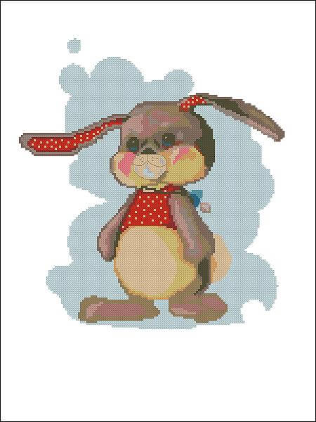 "Free cross-stitch design ""Bunny"""