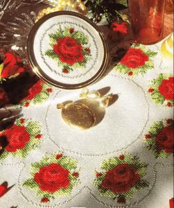 cross-stitch pattern Roses