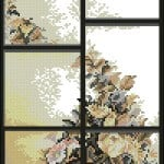 cross-stitch pattern window summer