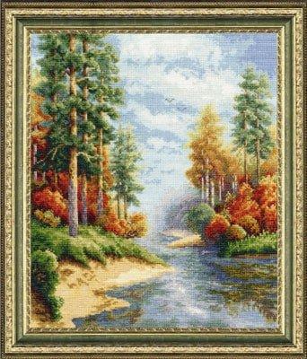 """Free cross-stitch pattern """" Gold Autumn"""""""
