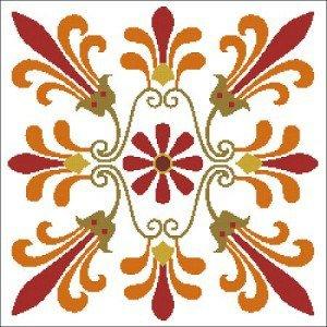 Cross-stitch pattern ancient greek ornament