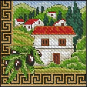 greece cross-stitch