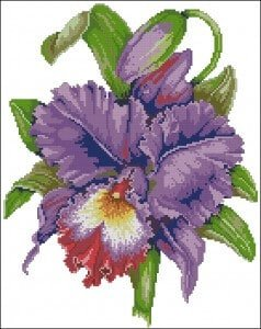 "cross-stitch pattern ""Irises"""