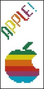 free cross-stitch pattern for i-phone case