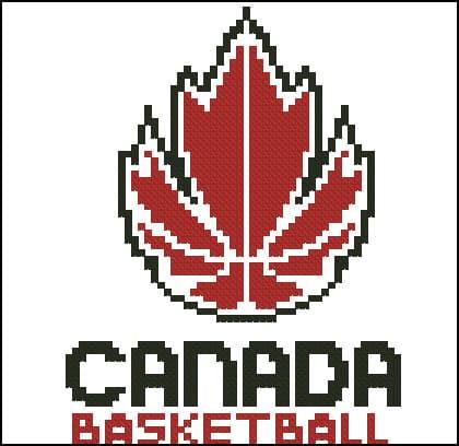 """Free cross-stitch pattern """" Logo Kanada basketball"""""""