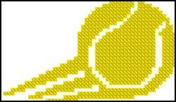 cross-stitch pattern logo tennis