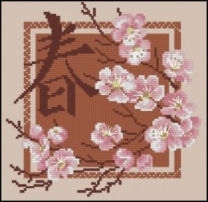 cross-stitch pattern Sakura