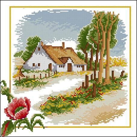 """Free cross-stitch pattern """" Seasons-Summer"""""""