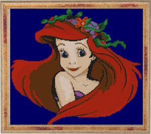 disney cross-stitch pattern arial