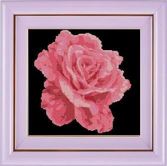 "Flower cross-stitch pattern ""Pink Rose"""