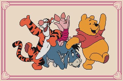 "Disney cross-stitch pattern ""Winnie the Pooh-2″"