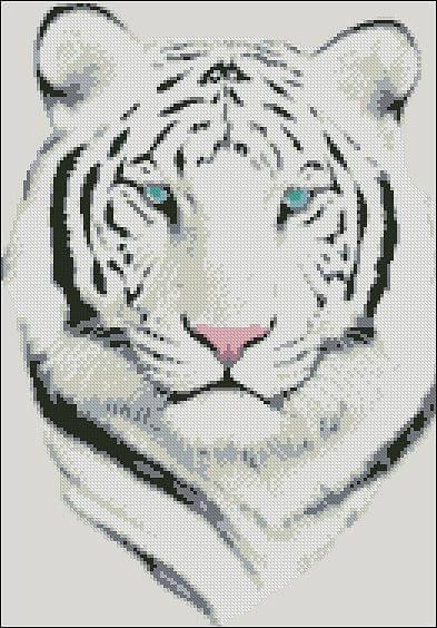 "Cross-stitch pattern ""White Tigger"""