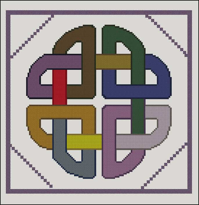 "Cross-stitch chart ""Celtic ornament"""
