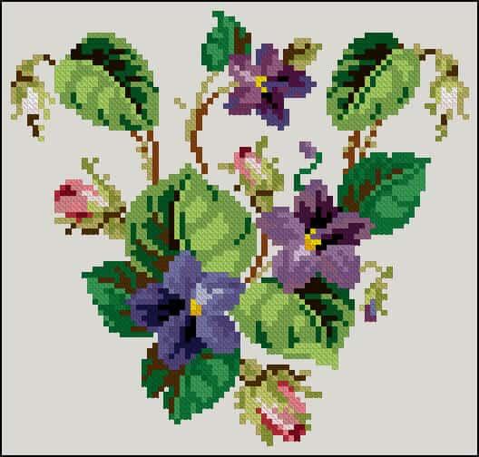 """Lotus Cross Stitch Pattern Free Cross-stitch Patterns """""""