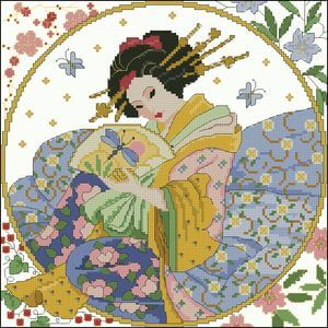 free oriental cross-stitch patterns