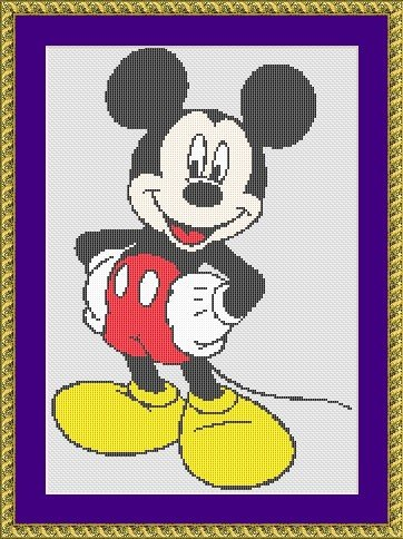 "Disney cross-stitch design ""Mickey Mouse"""