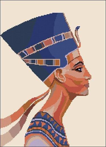 "Cross-stitch design ""Nefertiti"""