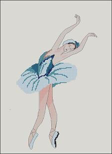 "Cross-stitch pattern ""Ballerina"" free"