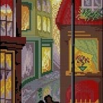 "free cross-stitch pattern ""Night tango"""