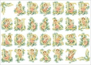 "Free cross-stitch pattern ""Alphabet-angels"""