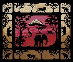 "Free cross-stitch pattern ""Kilimanjaro"""