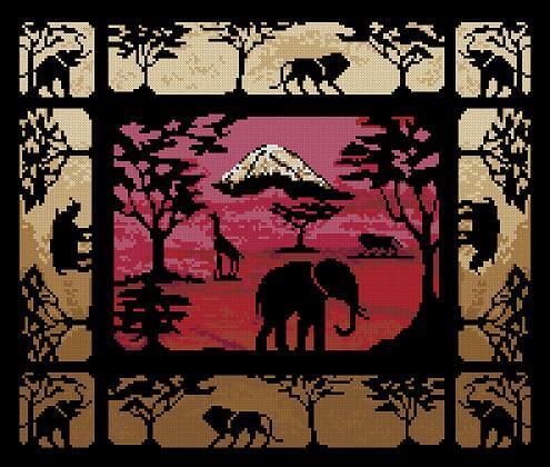 """Free cross-stitch pattern """"Kilimanjaro"""""""