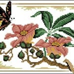 "Free cross stitching pattern ""Flight of Butterflies"""