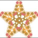 "Free cross stitching.pattern ""Star Biscornu"""
