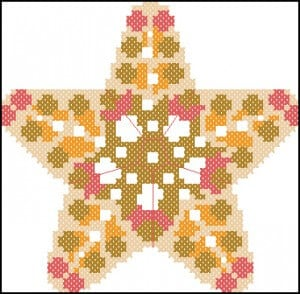 "Free cross stitching.pattern ""Star Biscornu"""