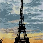 "cross-stitch patternn ""La Tour Eiffel"""