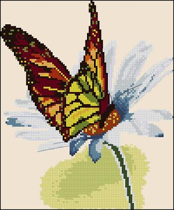 "Cross-stitch pattern "" Freshness of dew """