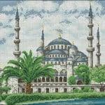 "Free cross-stitch pattern ""The Blue Mosque"""
