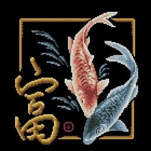 Cross-stitch pattern Magic fishes