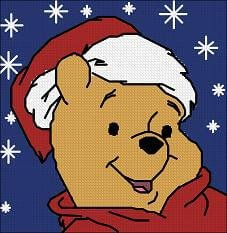 "Cross-stitch design ""Pillow Christmas Pooh"""