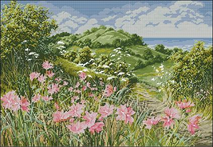 "Cross-stitch design ""Near the Coast"""