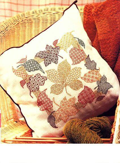 Wonderful blackwork pattern for pillow