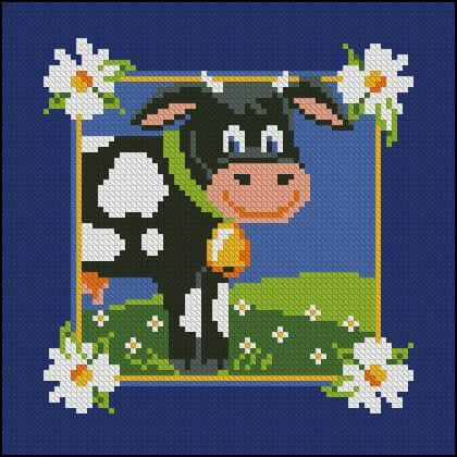 "Free Cross-stitch pattern ""Cow"""