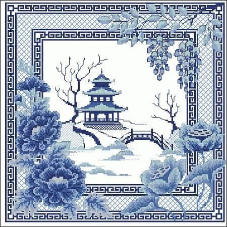 "Cross-stitch pattern ""Pagoda"""