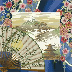 free cross-stitch pattern oriental harmony