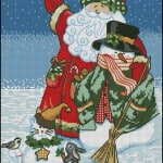free cross-stitch santa claus
