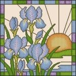 cross-stitch pattern flowers