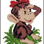 cross-stitch pattern Monkey