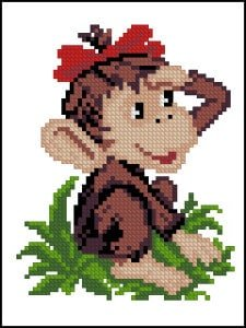 cross-stitch pattern Monkey