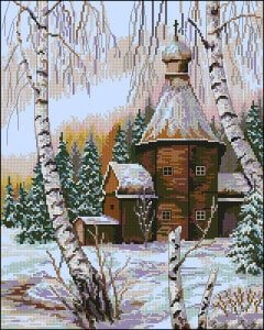 cross-stitch patterns winter