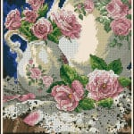 still-life with roses-cross-stitch [attern