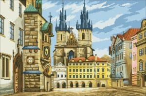 Cross-stitch design Gold Prague